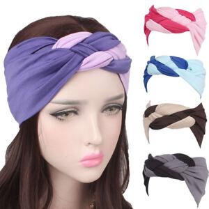 ef70f77ebd3 Image is loading Women-Wide-Sports-Yoga-Headband-Stretch-Hairband-Elastic-