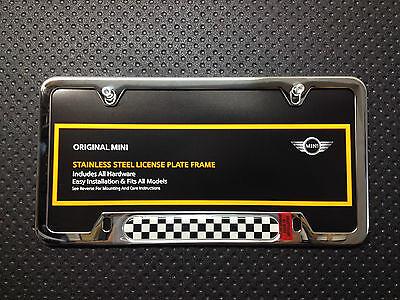 MINI Black Jack License Plate Frame In Chrome OEM 82122446875