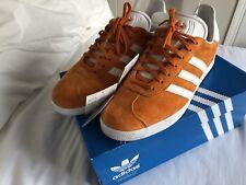new styles 717b3 1e453 Adidas Gazelle UK 10 BB5485 Unity Orange and White