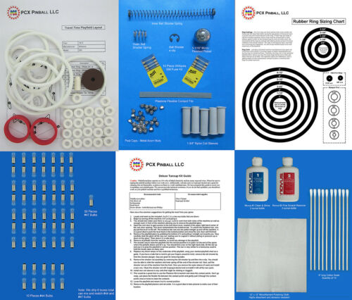 Includes Rubber Rings 1973 Williams Travel Time Pinball Deluxe Tune-up Kit