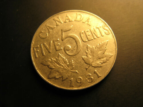 Canada 1931 5 Cent Coin.