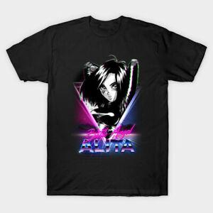 Synthwave Battle Angel Alita T Shirt Funny Vintage Gift For Men Women