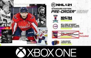 NHL-21-Xbox-One-Pre-Order-DLC-NHL-94-Rewind-XP-Boost-Bag-NO-PACKS