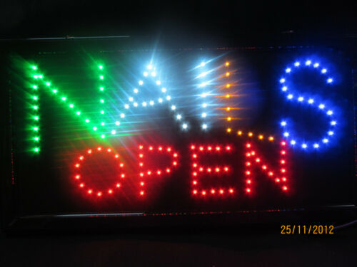 QUALITY BRIGHT SHOP NEON DISPLAY FLASHING OPEN NAILS BEAUTY SALON LED SIGN UK