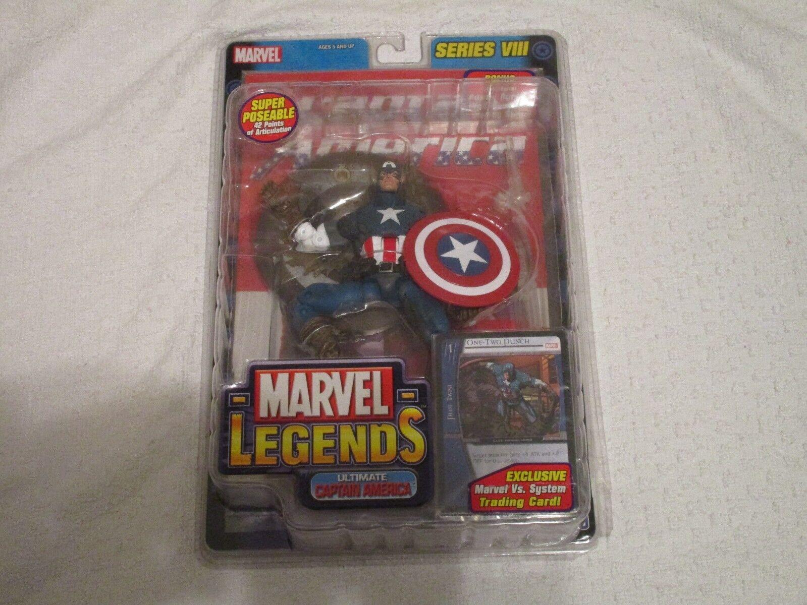 Marvel Legends Series VIII 8 Ultimate Capitán América con tarjeta vs