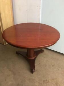 19th-Century-Mahogany-Pedestal-Table