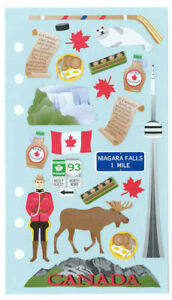 O-Canada-Stickers-RCMP-hockey-stick-puck-maple-syrup-moose-CN-Tower