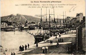 CPA-Cherbourg-Quai-de-Caligny-et-Avant-Port-de-Commerce-633028