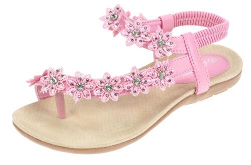 Femmes Sandales Été Chaussures Bride D/'Orteil Sandales 2527 Blanc Rose Noir