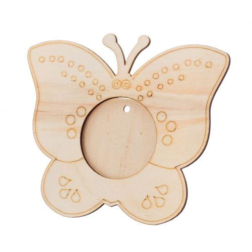 En bois papillon photo//Note détenteurs pour enfants à peindre décorer À faire soi-même Craft