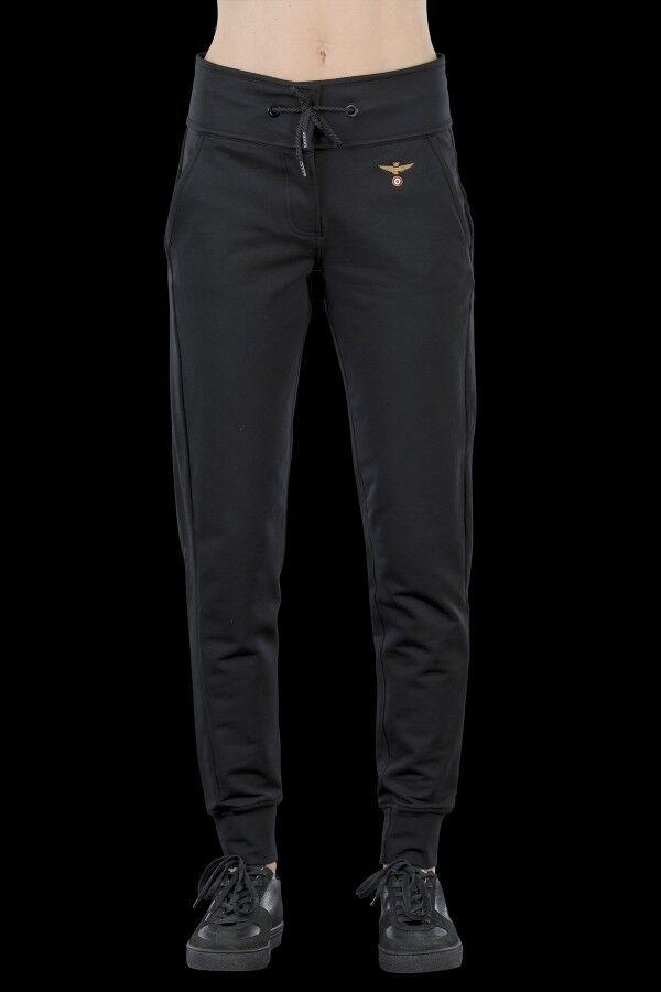 AERONAUTICA MILITARE DAMEN HOSEN PF638D sweat damen pants schwarz