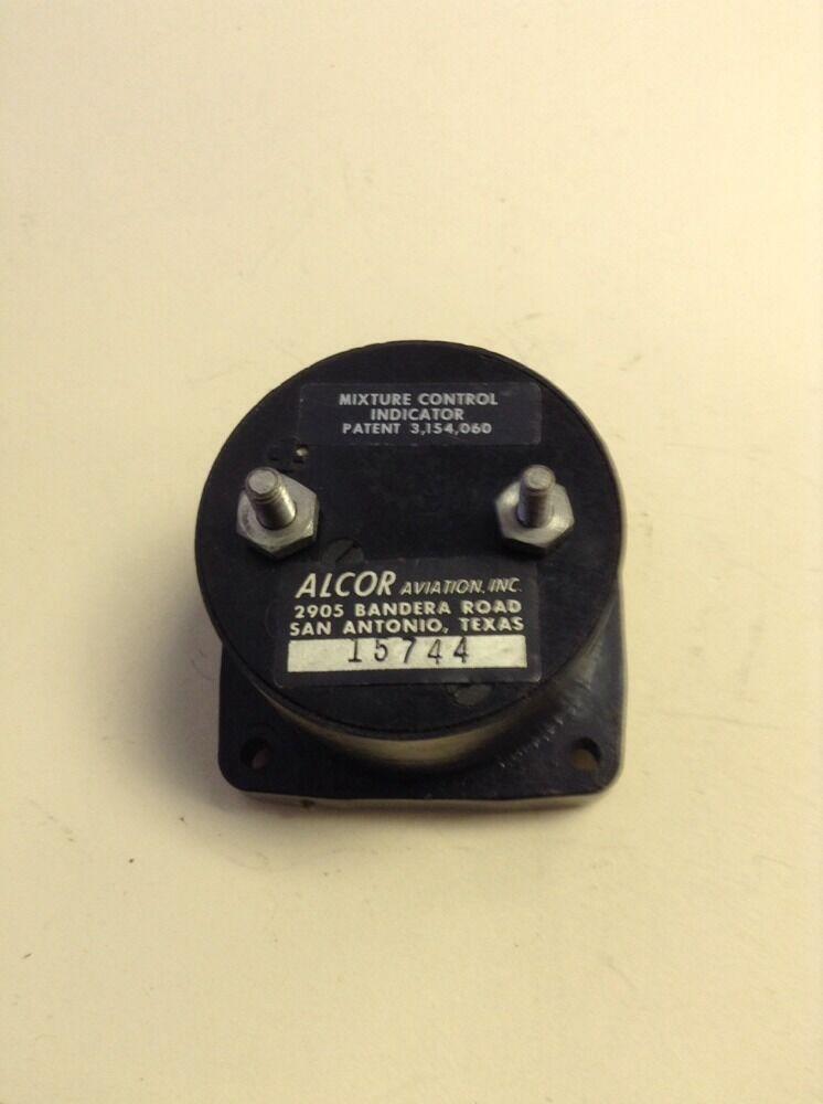 "ALCOR CONTROL /""MIXTURE/"" METAL PLACARD Aviation"