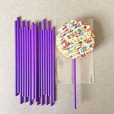 "6"" Plastic Purple Cake Pop Sticks, Purple Lollipop Sticks, Purple Sucker Sticks"