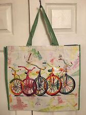 TJ MAXX Colorful Bicycles Shopping Bag Reusable Eco Travel Tote NWT