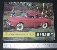 DEPLIANT BROCHURE PUBLICITE REGIE RENAULT DAUPHINE 1958 AUTOMOBILE AUTO