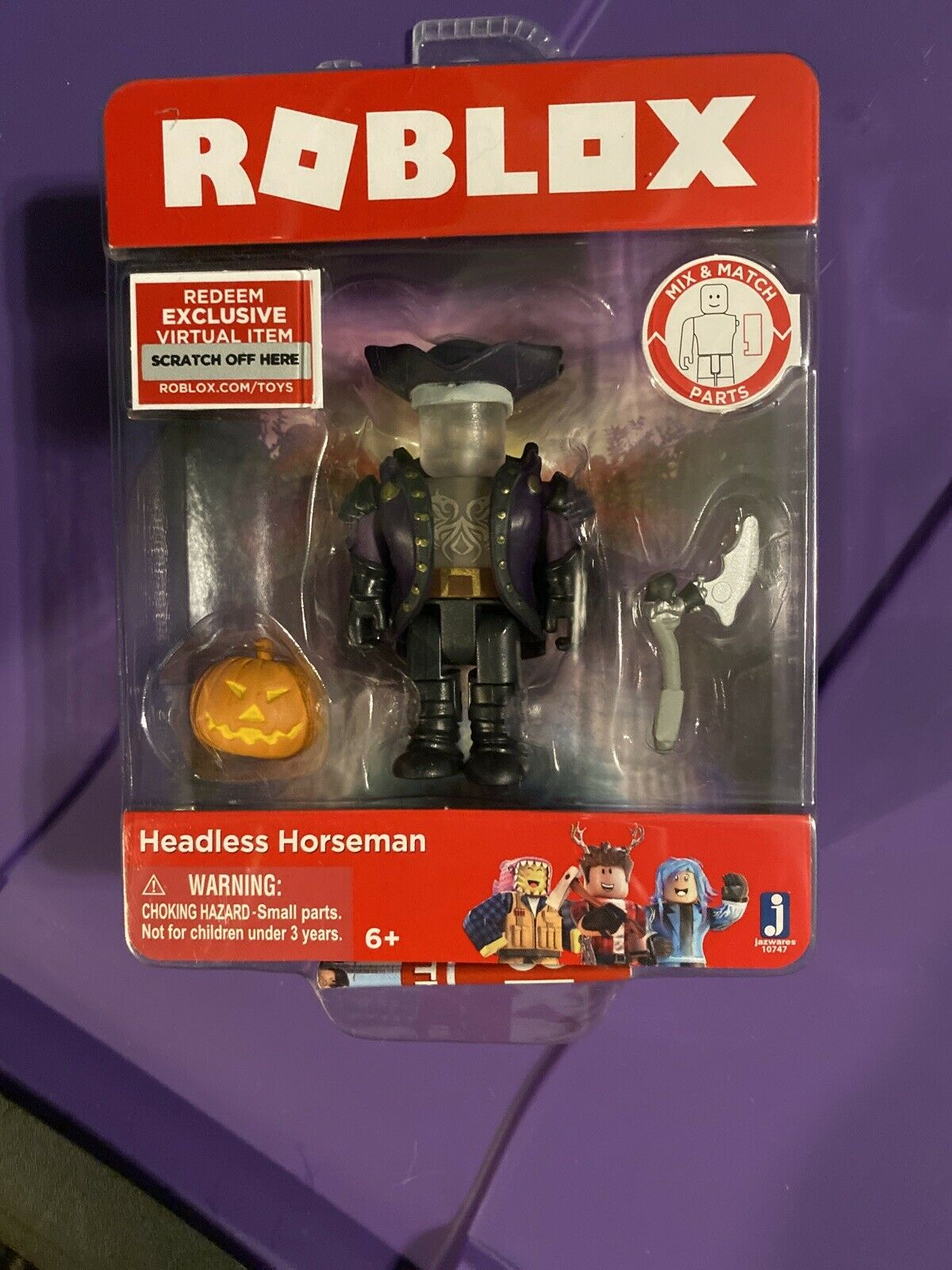 Roblox Id Code For Headless Roblox Headless Horseman Figure With Virtual Item Game Code For Sale Online Ebay