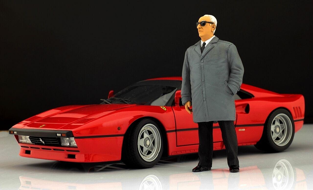 Enzo Ferrari (2) Figure pour 1 18 Kyosho F40 250GTO  BBR VERY RARE  en solde 70% de réduction