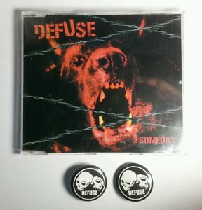 Defuse-034-Someday-034-CD-2-buttons-Finland-rock-metal-RARE-Deluxe-Edition