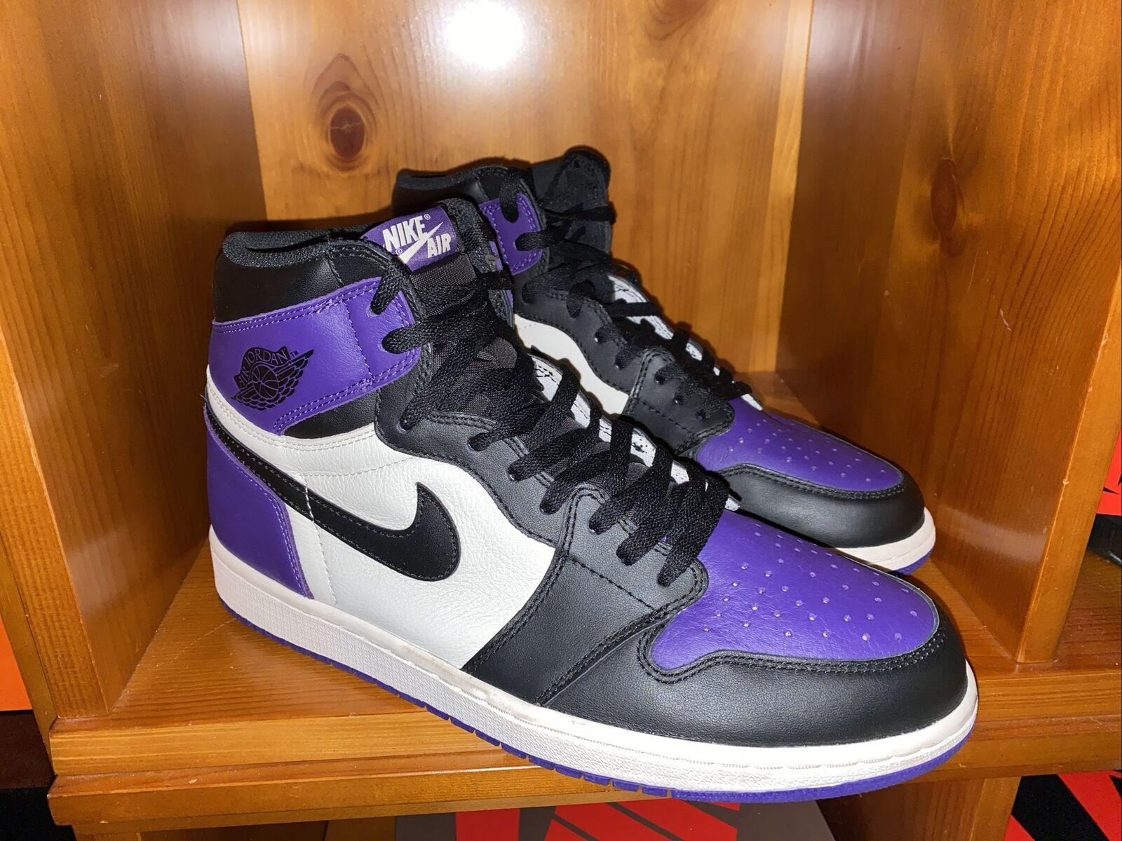 Jordan 1 Retro High OG Court Purple 1.0 2018 Size 12