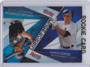 Details About Aaron Judge Rookie Card 2017 Bowmans Best With Giancarlo Stanton Yankees Mlb Rc