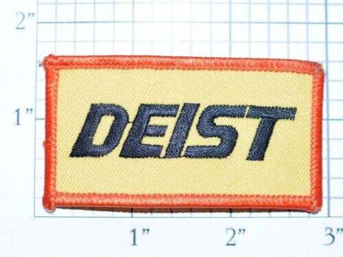 DEIST SAFETY Vintage Sew On Jacket Shirt Hat Firesuit Patch Drag Racing Driving