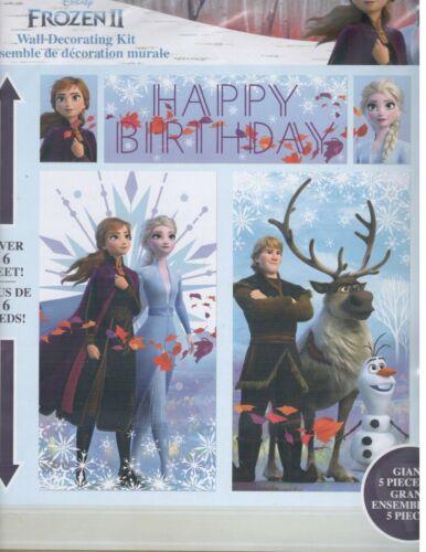 Disney FROZEN 2 II Scene Setter BIRTHDAY party wall poster backdrop Anna Elsa
