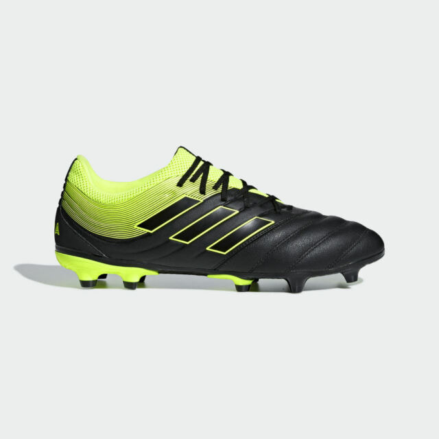 promo code 9b28d 5ec38 Adidas Men's Copa 19.3 Firm Ground FG Cleats (Core Black/Solar Yellow)  BB8090*