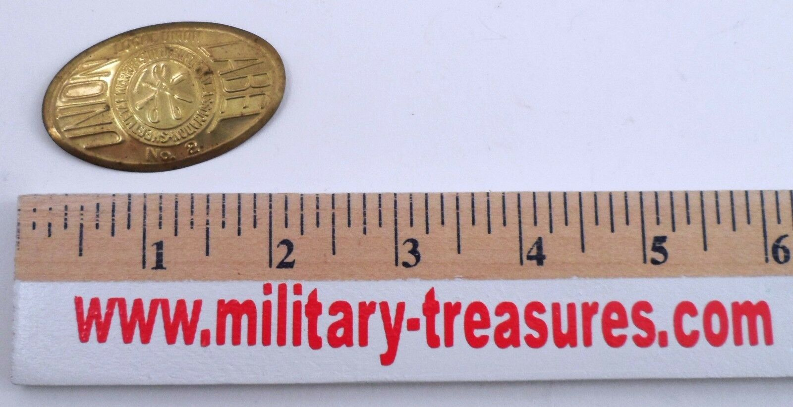 Sheet Metal Workers International SMWIA Local 2 Solid Thin Brass Union Label Tag
