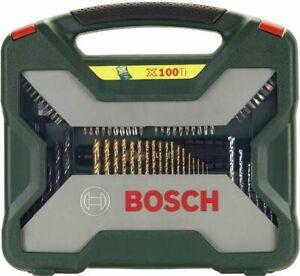BOSCH Set X-Line Titanium da 100 pezzi TRAPANO PUNTE PER FORATURA ED AVVITAMENTO