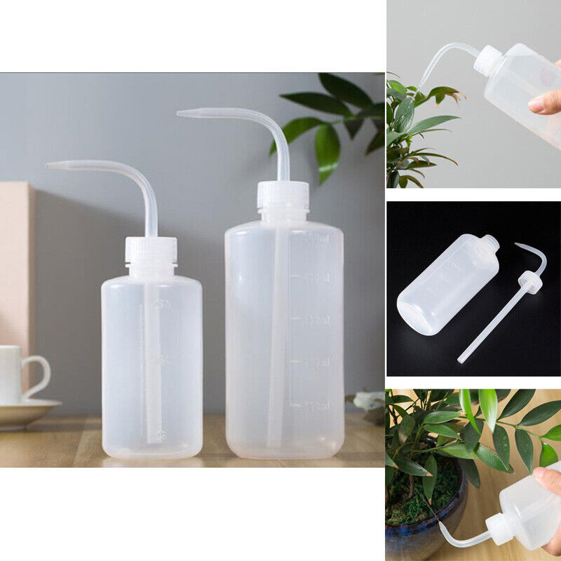 250/500ml Squeeze Bottle Curved mouth Portable for Plant flowers Potted Watering
