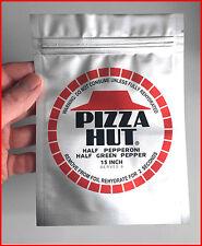 PIZZA HUT Silber Folie - Zurück in die Zukunft / Back to the Future Film Prop