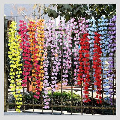 2M Colorful Wedding Home Decor Artificial Fake Azalea Flower Vine Plants Garland