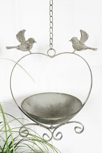 Gartendekoration Vogeltränke hängend Shabby  Chic