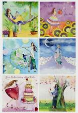 KRISTIANA HEINEMANN*Postkarte*Glitzer*Zum Geburtstag*Rad*Schubkarre*Has..14x14cm