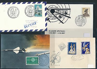 Kompetent 01835 Cds / Covers / Fdc Years 195x Weltraum Space Raketen 4 Diff 196x