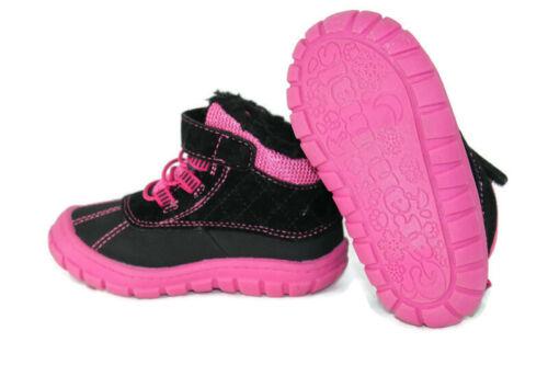 Garanimals Toddler Girls Faux Fur Lined Boots Pink /& Black