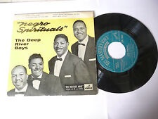 """THE DEEP RIVER BOYS""""NEGRO SPIRITUALS-disco 45 giri MASTERS Usa 1960"""" 4 SONGS"""