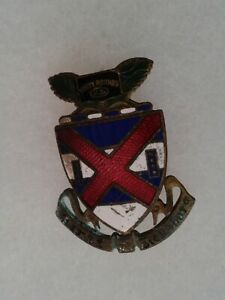 Authentic-WWII-US-Army-13th-Infantry-Regiment-DI-DUI-Unit-Crest-Insignia-WACO
