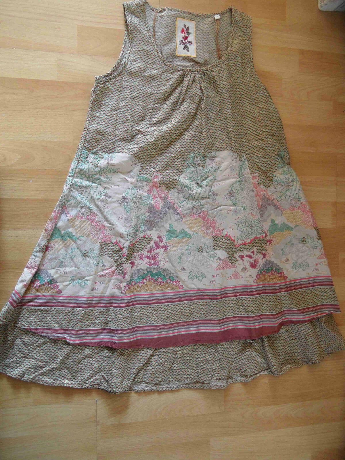 REPLAY schönes bunt geblümtes Hängerchen Kleid Gr. S w. N