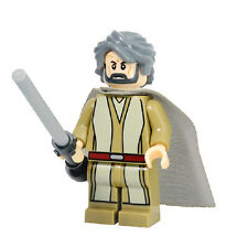 Star Wars Minifigure Force Awakens Luke Skywalker Hermit  Custom fits lego
