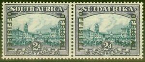 South-Africa-1938-2d-Blue-amp-Violet-SG015-V-F-Very-Lightly-Mtd-Mint