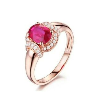 4Ct-Oval-Cut-Ruby-Simulant-Diamond-Halo-Solitaire-Ring-Rose-Gold-Finish-Silver