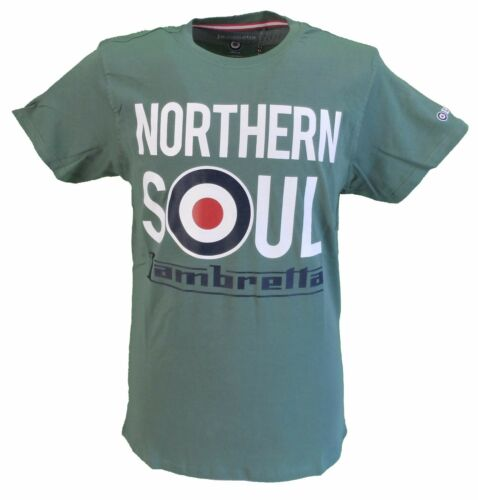 Lambretta Khaki Large Print Northern Soul Scooter Retro T Shirt