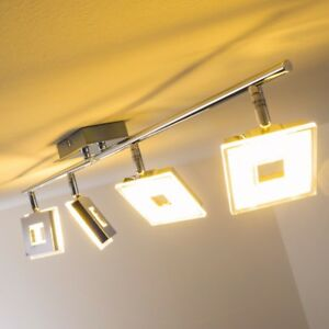 Deckenstrahler LED Design Leuchte Deckenleuchte Chrom Lampe Deckenlampe Zimmer