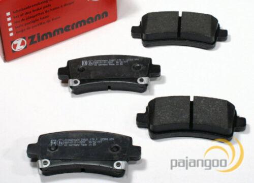 Hyundai Sonata IV Zimmermann Bremsbeläge Bremsklötze Bremsen für vorne hinten*