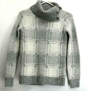 Tommy-Hilfiger-Women-039-s-XS-Acrylic-Wool-Blend-Turtleneck-Gray-Knitted-Sweater