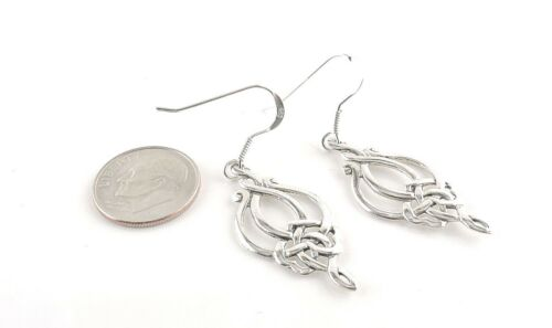 Free Gift Packaging Sterling Silver Celtic Weave Dangle Earrings