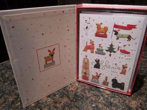 DACHSHUND Dog Pug Scottie Holiday CHRISTMAS HOLIDAY Box 12 Cards NEW BOX
