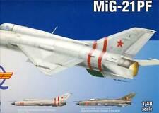 eduard MiG-21PF DDR Jagdfliegergeschwader 2 Soviet + Gurte 1:48 Modell-Bausatz