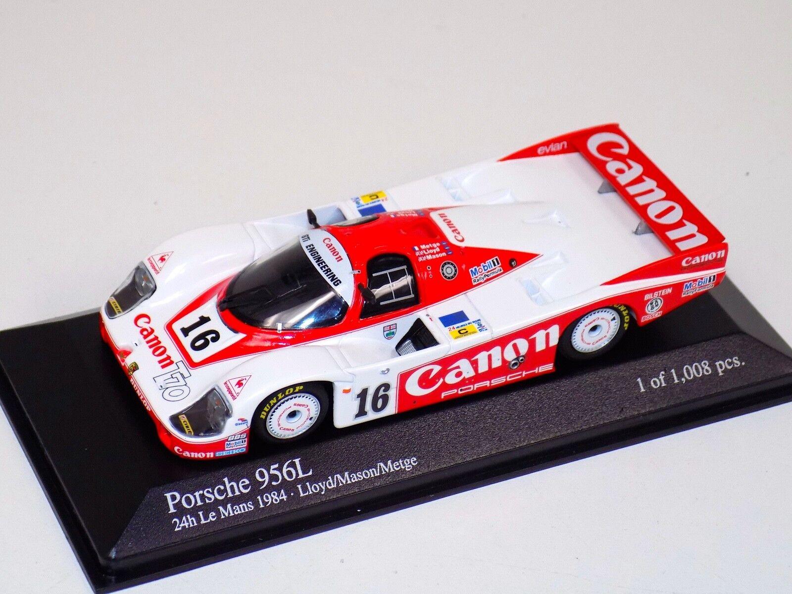 vendite dirette della fabbrica 1 43 43 43 Minichamps Porsche 956L 24 H of Leuomos 1984 Medge Mason Lloyd  garantito